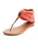 Коралови ниски сандали 2013