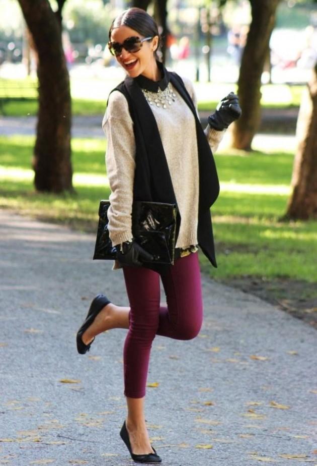 Стилен широк пуловер за есен 2015
