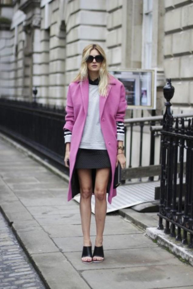 Модерно розово палто за есен 2015
