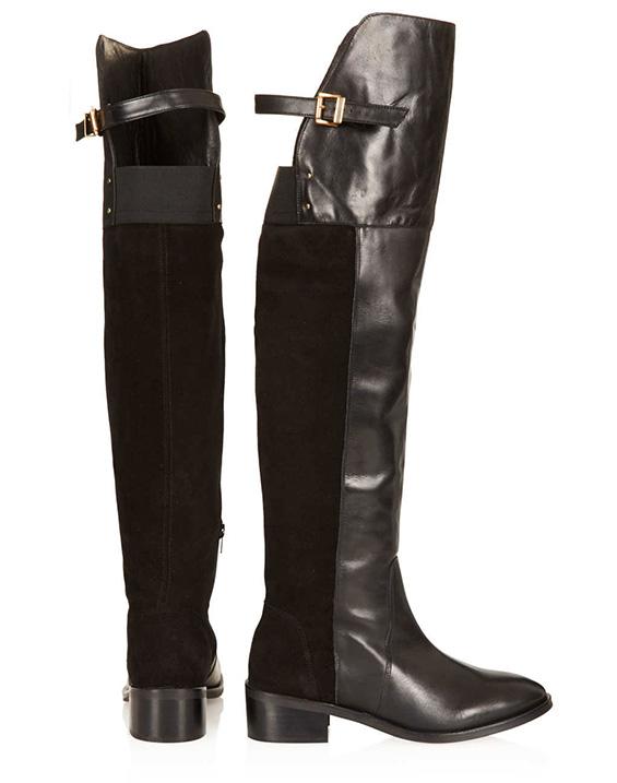 Стилни кожени чизми есен 2015