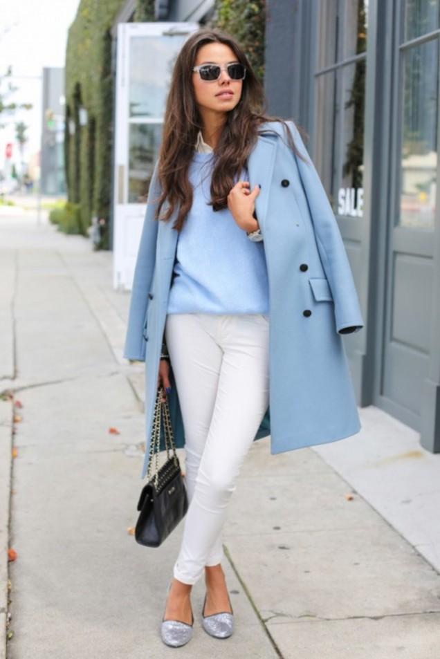 Стилно палто в синьо за есен 2015