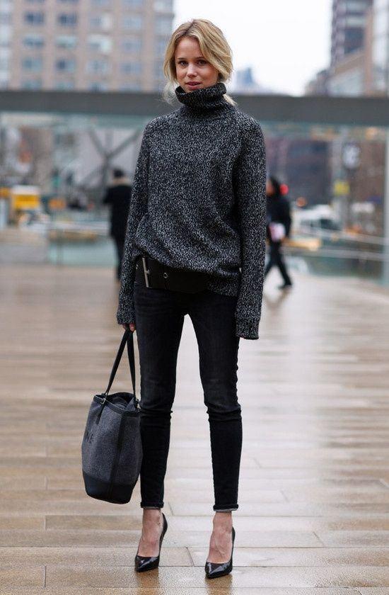 Секси широк пуловер есен 2015