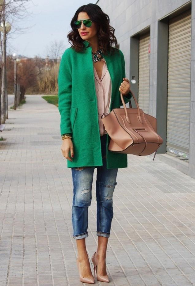 Готино палто в зелено за зима 2015