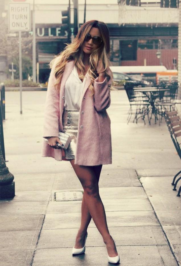 Готино розово палто есен 2015