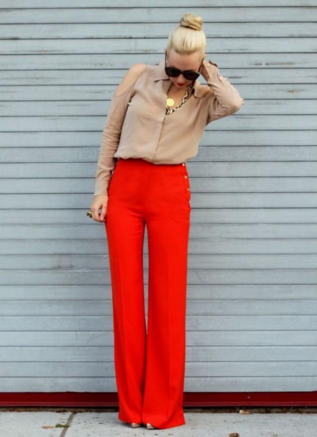 елегантен панталон с риза есен 2015