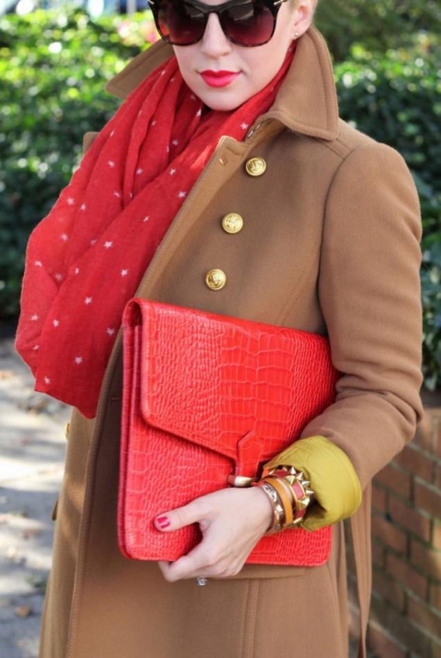 елегантна комбинация с моден аксесоар есен 2015