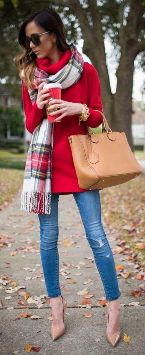 комбинация дънки с палто есен 2015