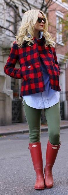 Карирано късо палто за зима 2015