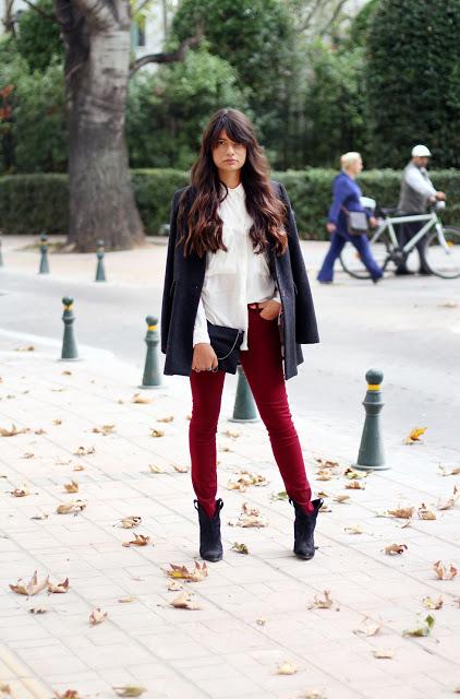 Дълго палто, риза и панталон за есен 2015