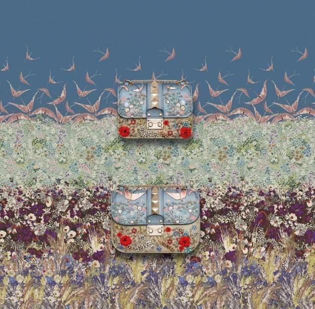 Малки стилни чанти с флорален мотив пролет 2016