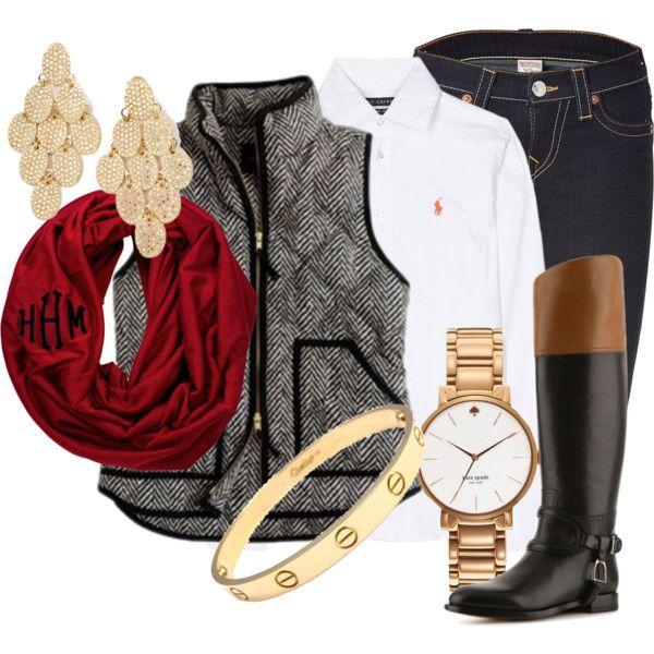 Елек в комбинация с голям шал и високи ботуши зима 2015