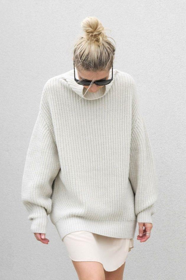 Плетена туника тип рокля зима 2015