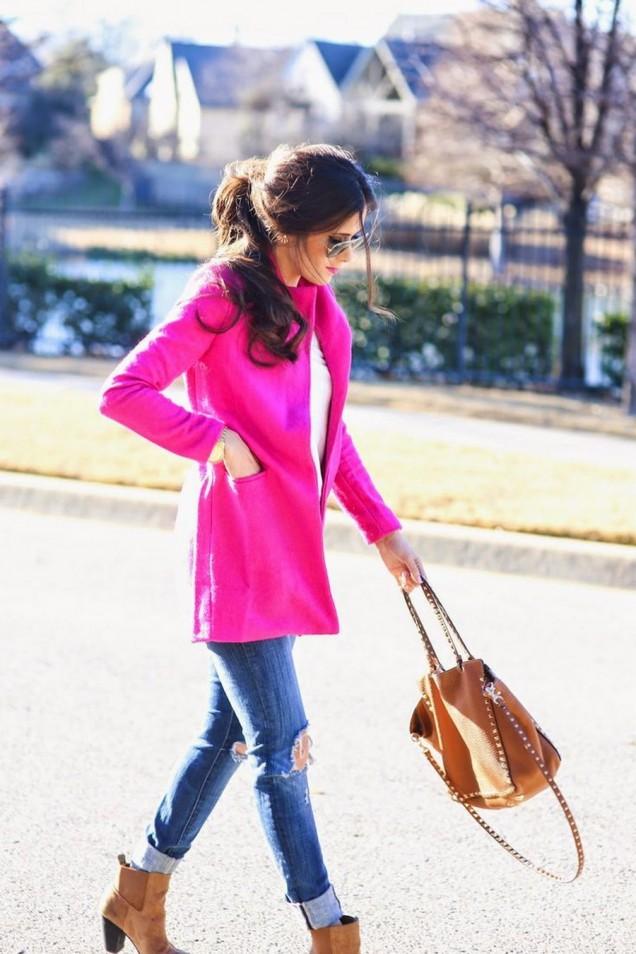 Елегантно розово палто