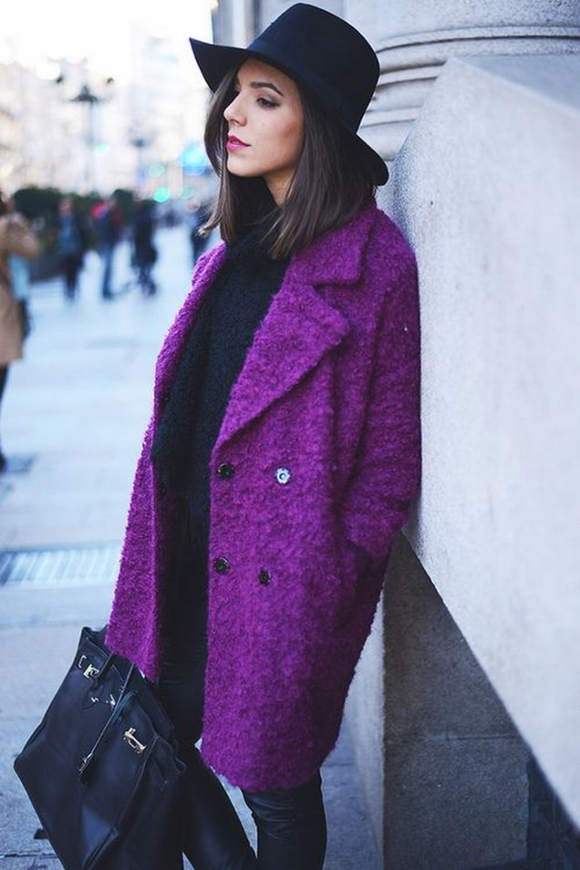 Готино палто в лилаво