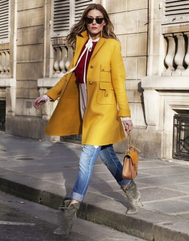 Стилно палто цвят горчица
