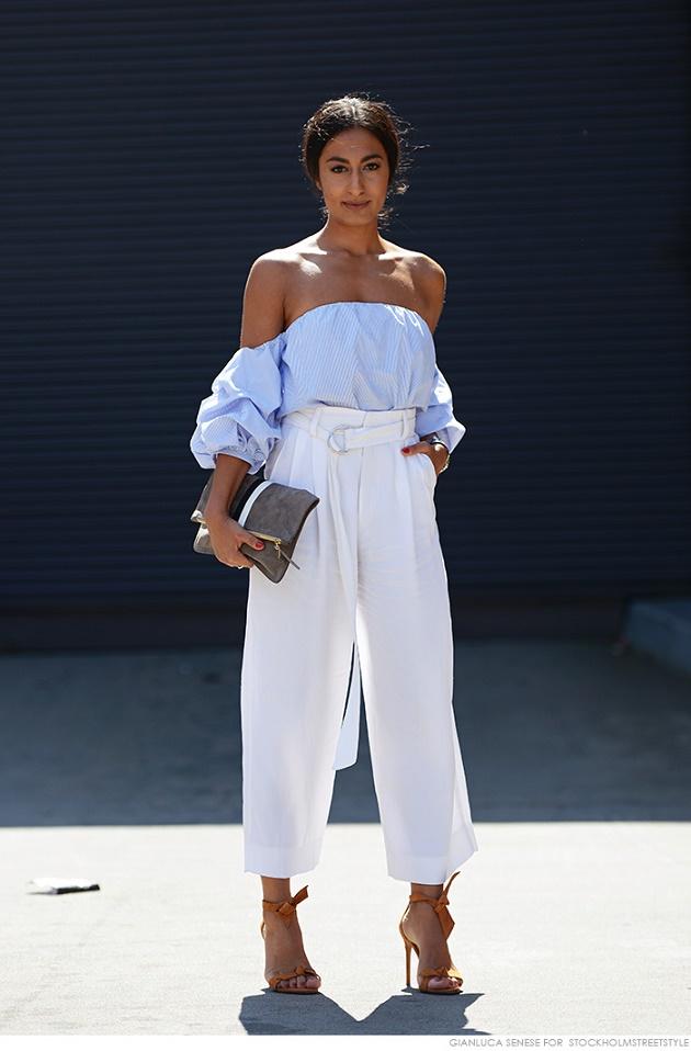 Модерна блуза с голи рамене 2016
