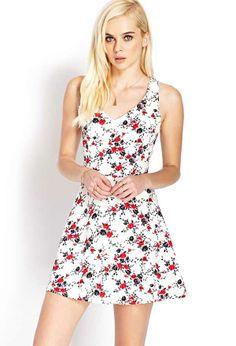 Сладка къса рокля с флорален принт от Forever 21 за пролет 2016