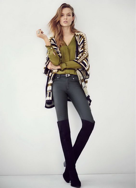 Жилетка бохо стил и чизми зима 2016