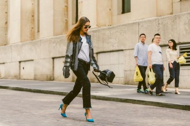 Дънки в бохо стил с високи токчета 2016