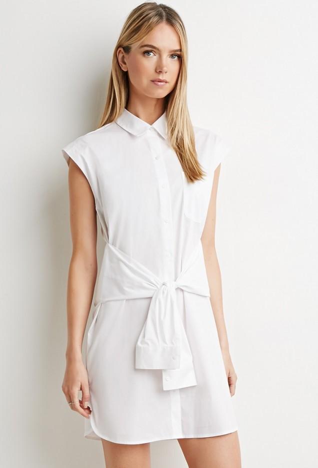 Стилна бяла рокля за лято 2016 от Forever 21