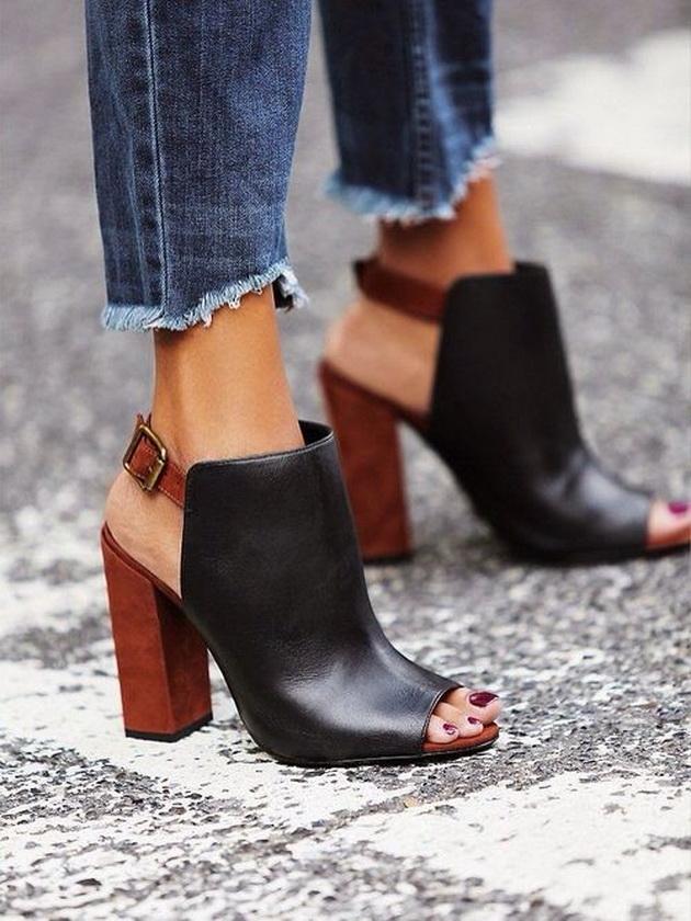 Обувки с дървен ток 2016