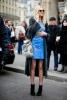Къса дънкова пола с копчета пролет 2016