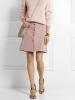 Къса пола с копчета цвят пепел от рози 2016