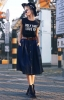 Модерна дълга дънкова пола с копчета 2016
