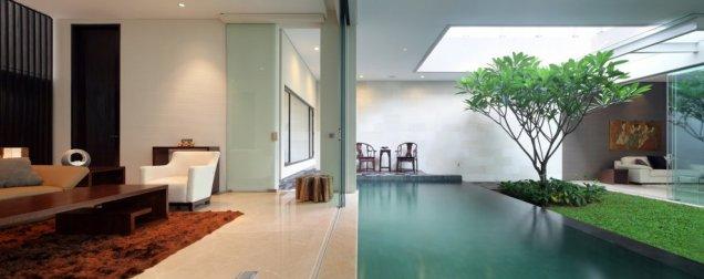 Статик Хаус - хол на ръба на басейн
