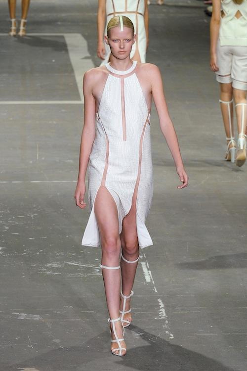 Бели високи гладиаторски сандали от Alexander Wang