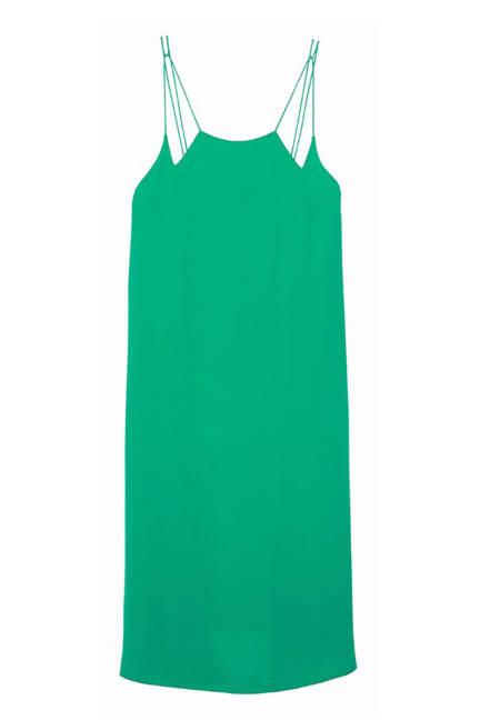 Копринена рокля в зелено 2013