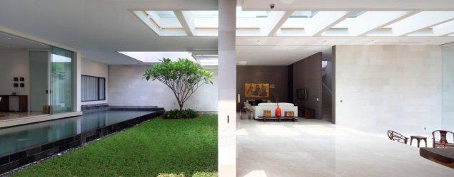 Статик Хаус - вътрешна градина