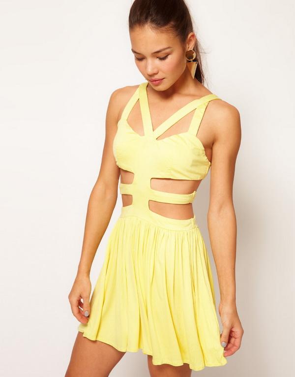 Секси рокля в жълто 2013