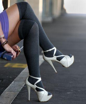 Чорапи с високи токета
