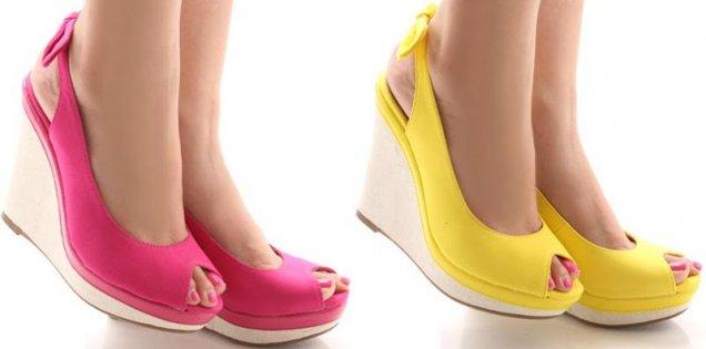Цветни сандали с платформа 2013