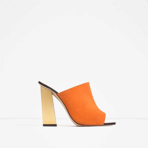 Високи чехли в оранжево за лято 2016