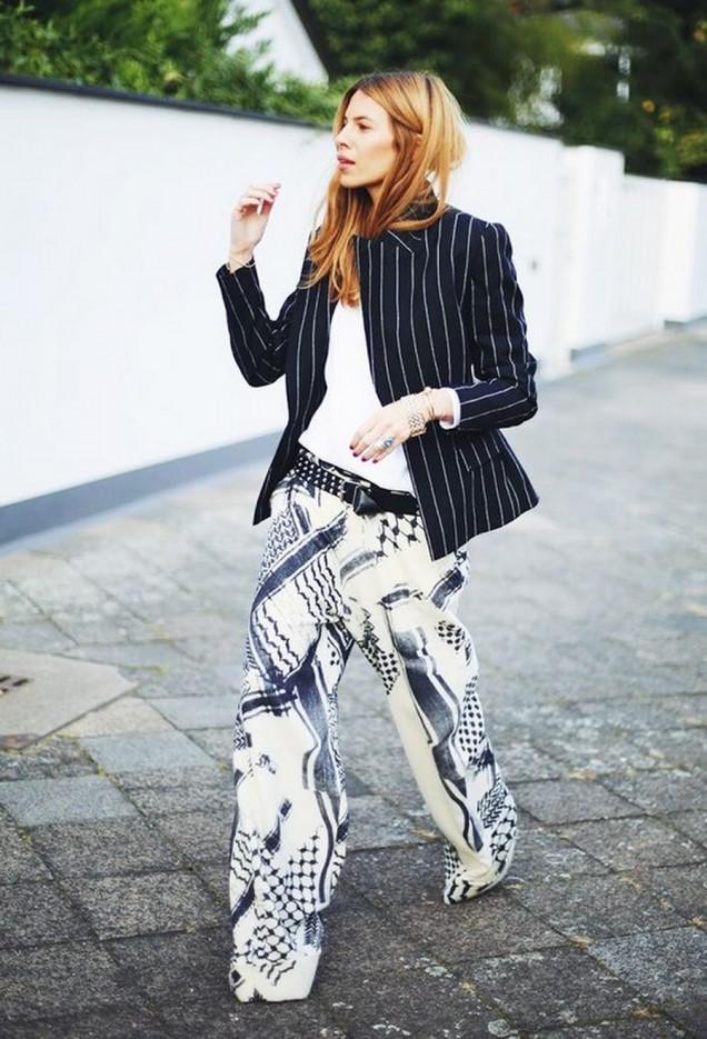 Широк панталон комбиниран със сако за пролет 2016