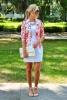 Бяла рокля комбинирана с флорално сако пролет 2016