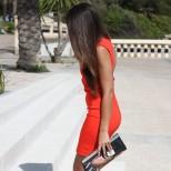 Секси червена рокля за парти пролет 2016
