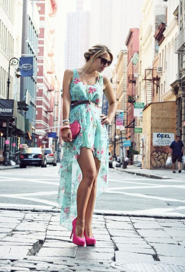 Красива рокля шифон за пролет 2016