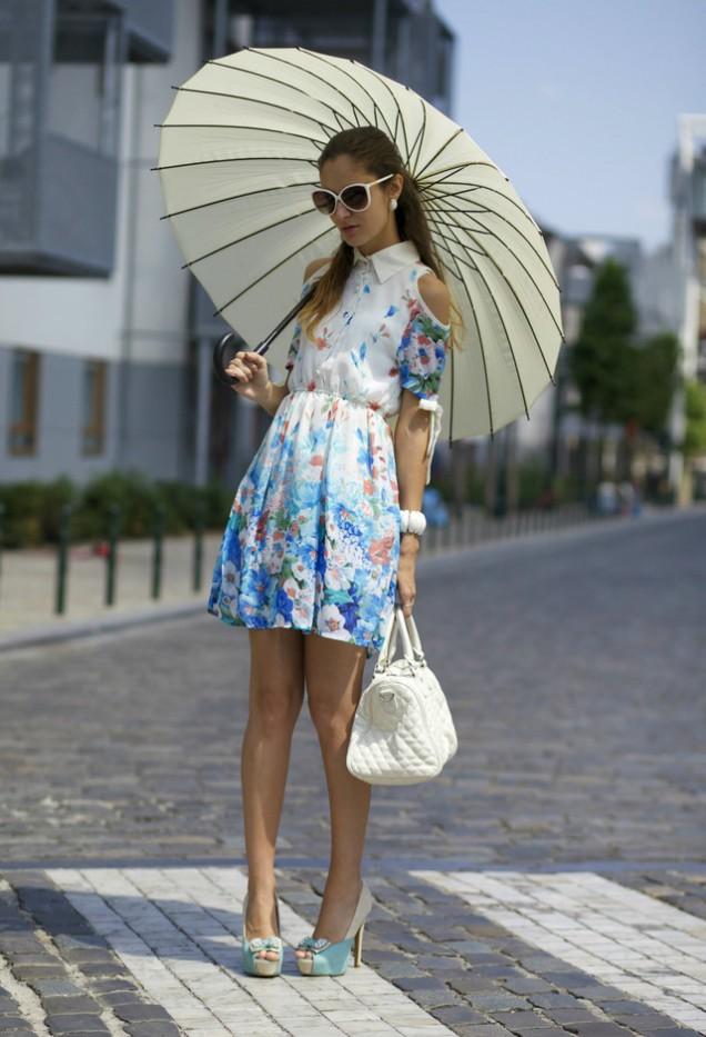 Прекрасна флорална рокля пролет 2016