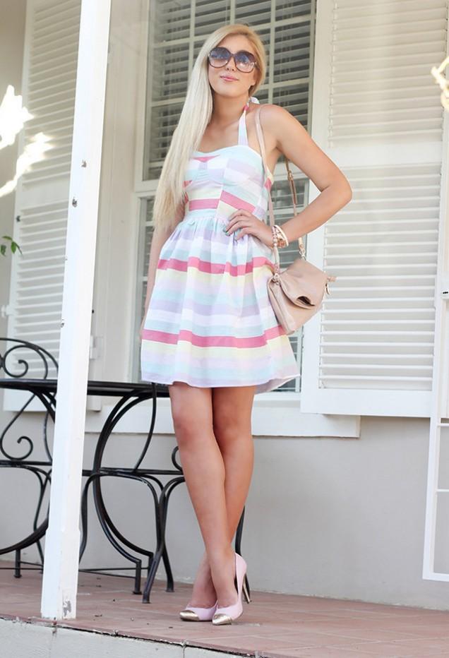 Готина и свежа рокля райе пролет 2016
