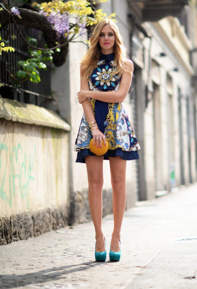 Къса рокля с принт за пролет 2016