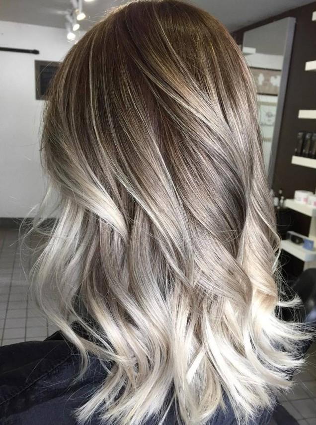Балеаж прическа асш руса коса
