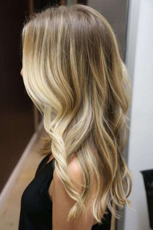 Балеаж прическа сребро светла коса 2016