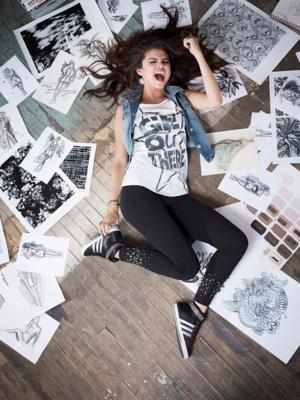 Селена Гомез за есенната кампания на Adidas 2013
