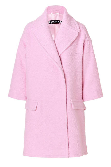 Вълнено розово палто