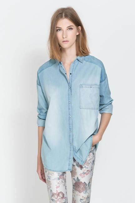 Риза деним от Zara 2013