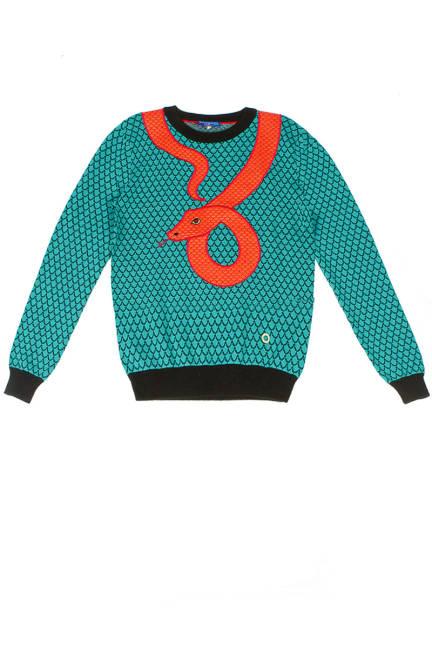 Пуловер със змия