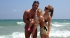 Коцето и Надя на плаж